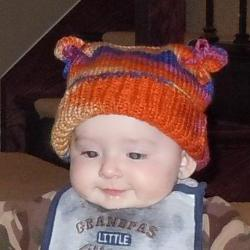 Flour Sack Hat for Baby or Child - Dark and Light Orange, Royal Blue, Red and Pink