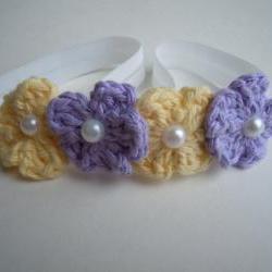 Crochet Mini Flower Headband